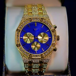 Other - Iced Out Blueface Octagon Shaped Mens Luxury Watch